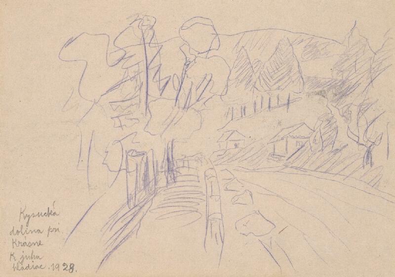 Jozef Hanula – Štúdia krajiny, 1928, Galéria umelcov Spiša