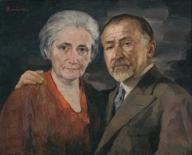Jozef Hanula - Umelec s manželkou