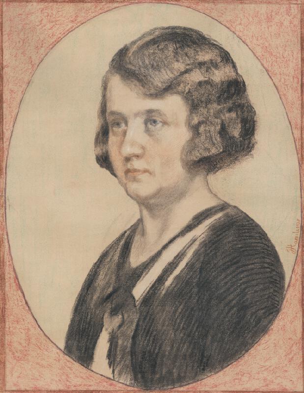 Jozef Hanula - Portrét Márie Hanulovej