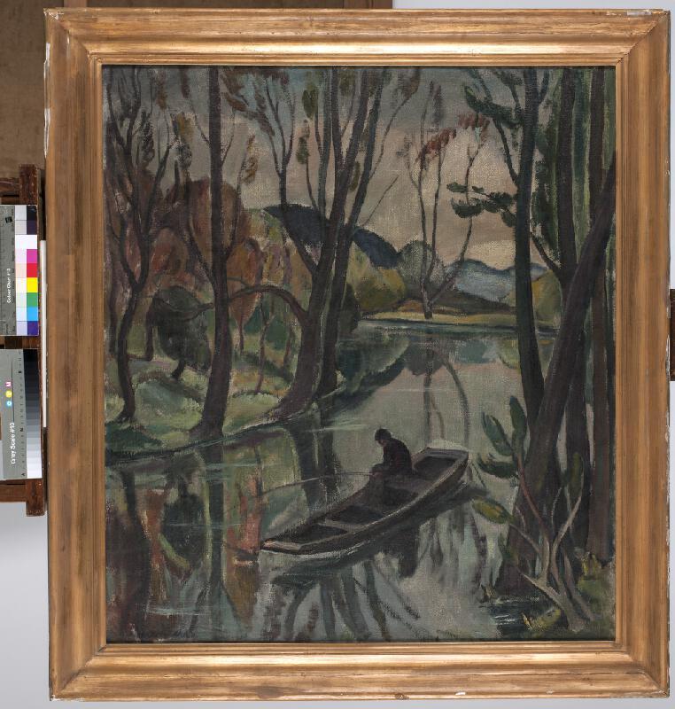 Oldřich Koníček - Rybář na řece