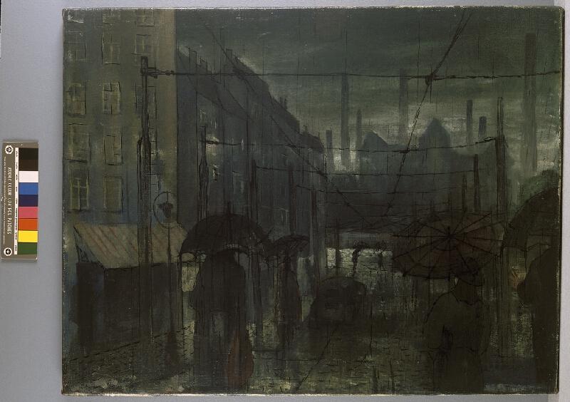 Bohumír Matal - Ulice v dešti
