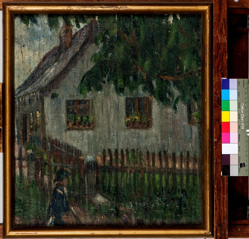 Otakar Kubín (Coubine) - Dům s plotem