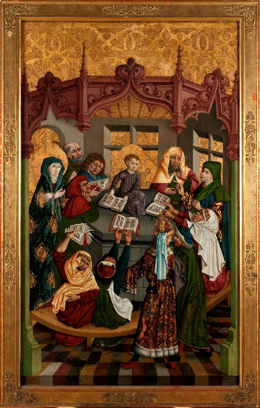 neznámý malíř moravský - Dvanáctiletý Ježíš v chrámu (původně avers)
