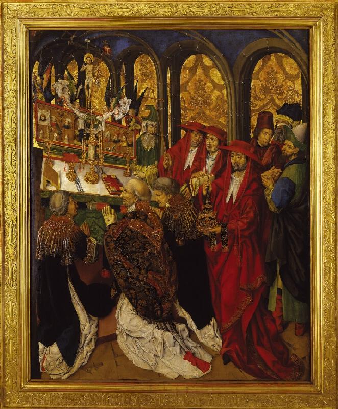 neznámý malíř středoevropský - pod vlivem Nizozemí - Mše sv. Řehoře