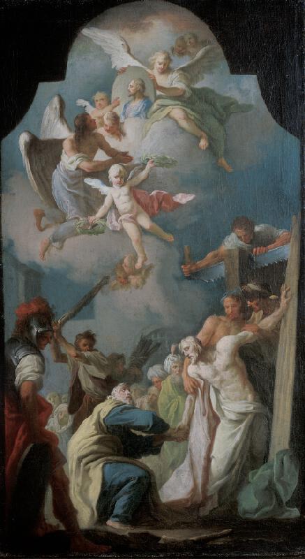 František Vavřinec Korompay - Loučení apoštolů Šimona a Judy Tadeáše
