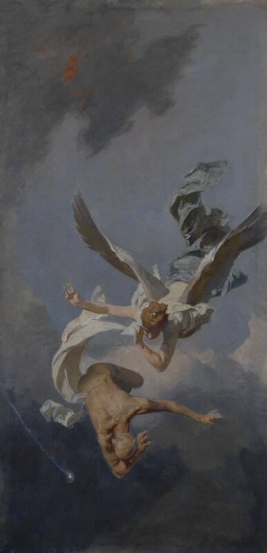 Julius Viktor Berger - Vítězství/Triumf vědy - triptych. Pád staré myšlenky