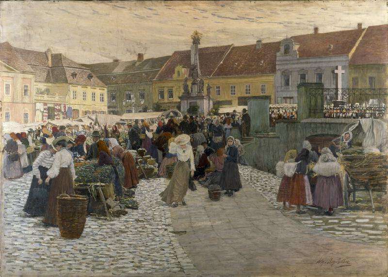Johann Nepomuk Geller - Trh v Hustopečích