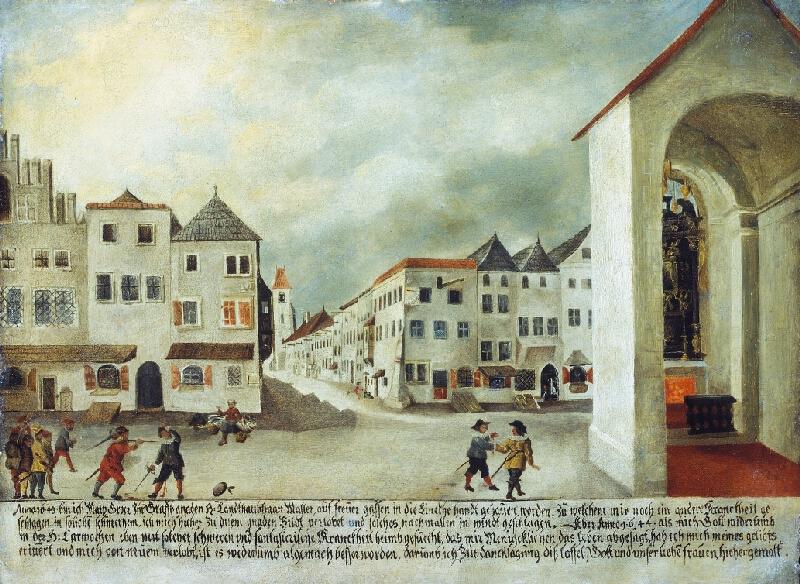 Marq (Max) Groer - Souboj v ulici Veselá v Brně - votivní obraz