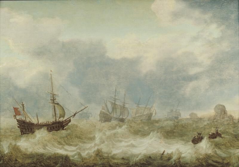 Simon de Vlieger - Rozbouřené moře
