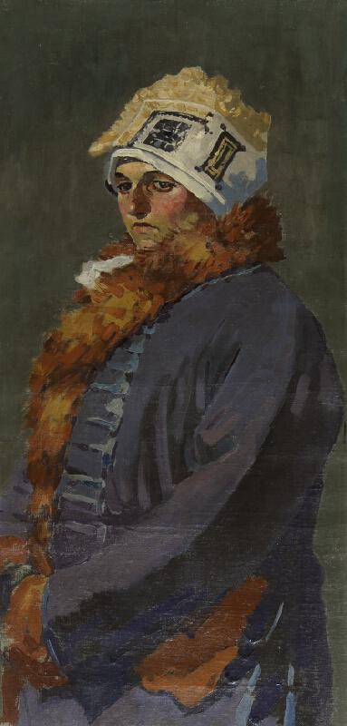 Joža Uprka - Žena z Hroznové Lhoty