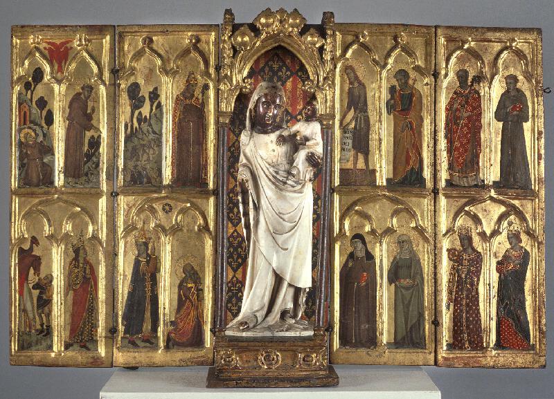 Tino di Camaino - následovník - Cestovní oltářík Roberta z Anjou