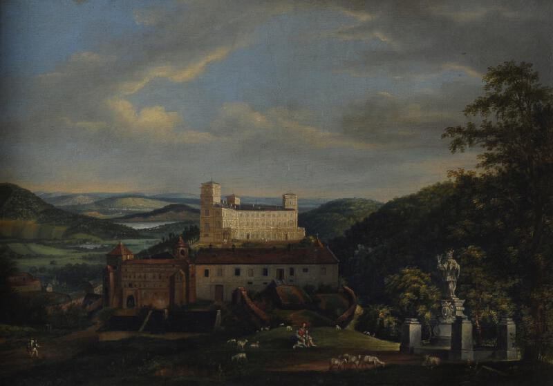 František (Franz) Richter - Pohled na Račický zámek
