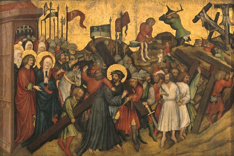 Mistr Rajhradského oltáře - Nesení kříže