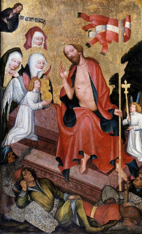 Mistr Rajhradského oltáře - Zmrtvýchvstání Krista