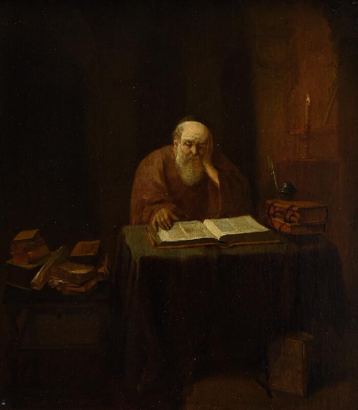 Abraham Diepraam - Učenec v pracovně