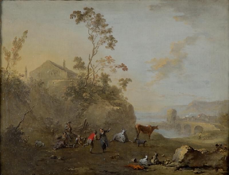 Norbert Grund - Krajina s tančícími pastýři