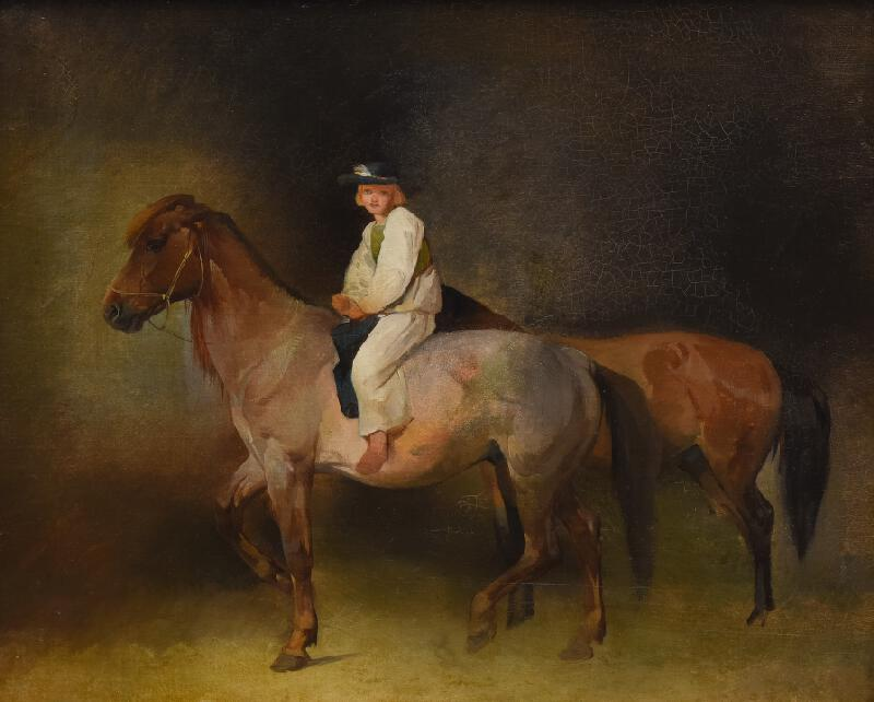 neznámý malíř český - Muž s koněm