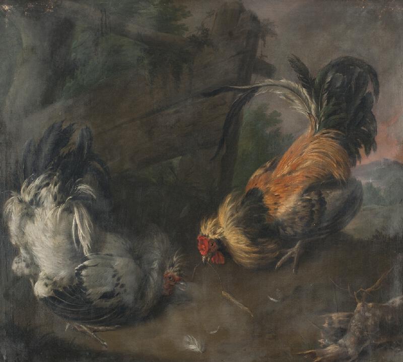 Melchior d` Hondecoeter - Slepice a kohout
