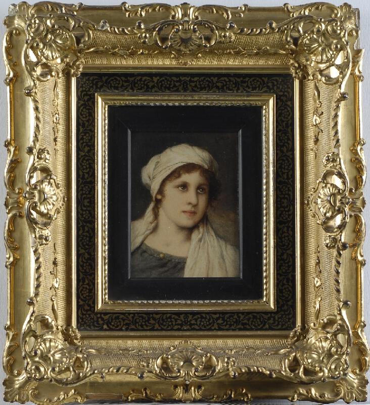 Gabriel Cornelius Max - Podobizna dívky v bílé šatce
