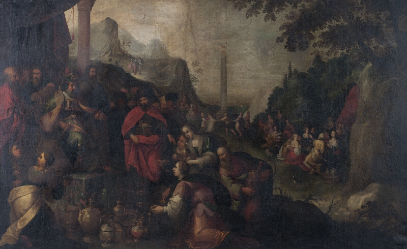 Hendrick van Balen - způsob - Tanec kolem zlatého telete