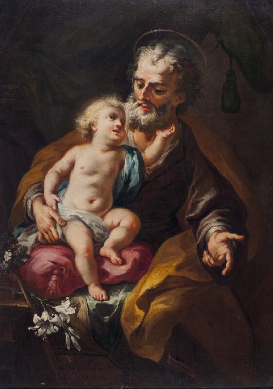 Martino Altomonte - Sv. Josef s Ježíškem