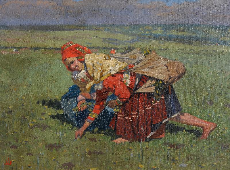 Joža Uprka - Dvě trávnice(Na poli)