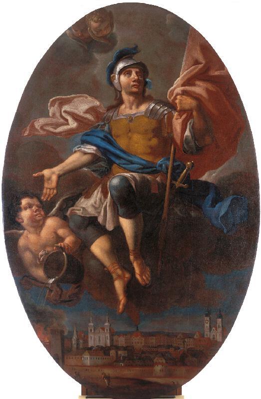 Václav Nosek (Nosecký) - Sv. Florián s pohledem na Jihlavu