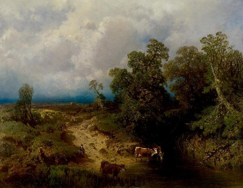Charlotta Piepenhagenová - Krajina s kravami