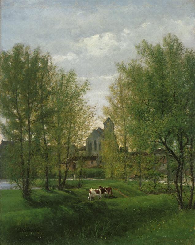 Antonín Chittussi - Krajina s klášterem
