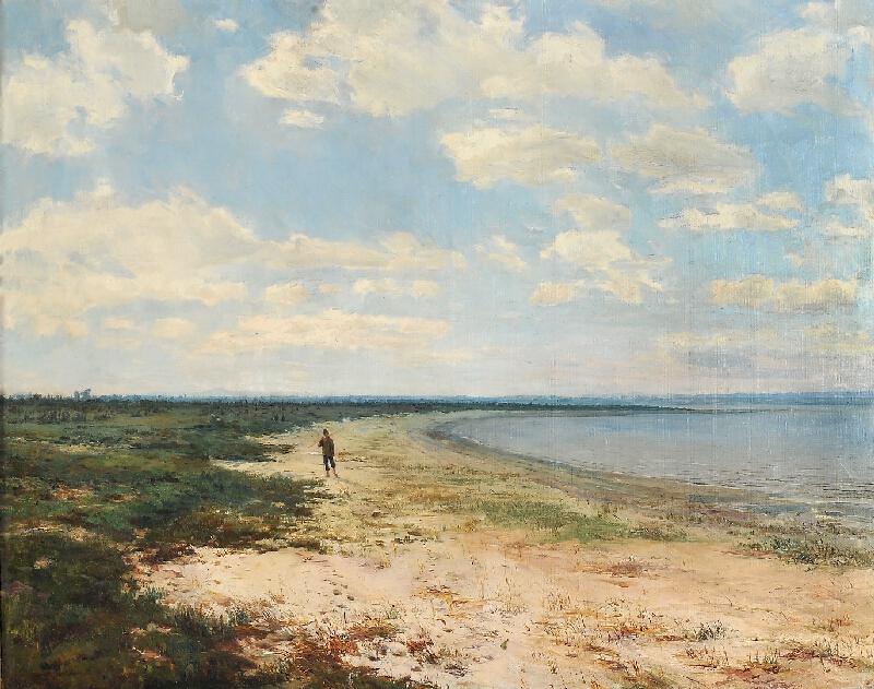 Otakar Lebeda - Chlapec na břehu