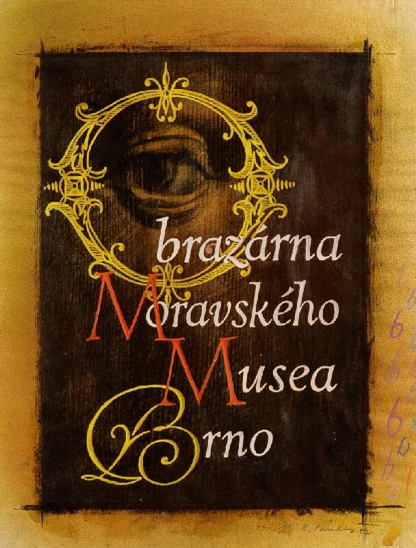 Karel Pánek - Návrh na plakát pro obrazárnu Moravského muzea