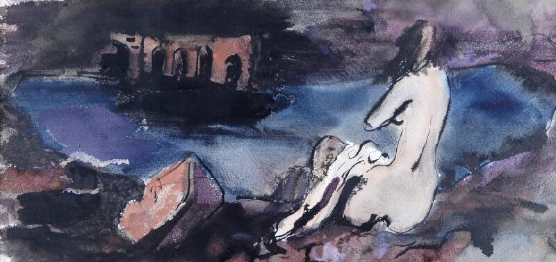 František Kaláb - Koupání u moře