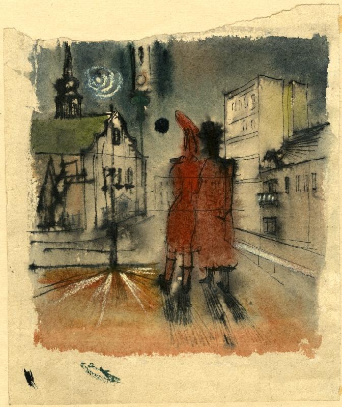 František Kaláb - Dvojice ve městě