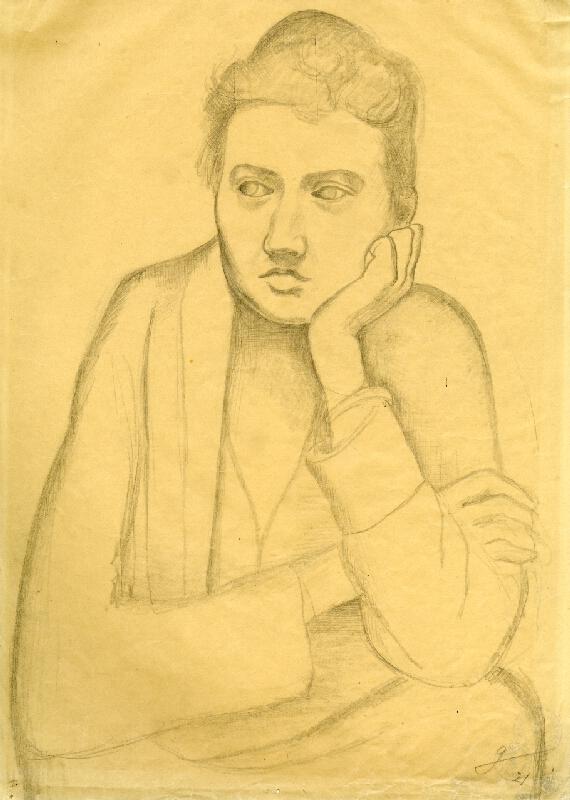 Otto Gutfreund - Žena s podepřenou bradou