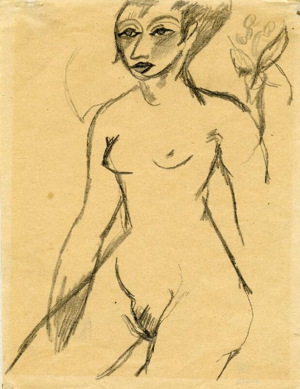 Otto Gutfreund - Sedící ženský akt