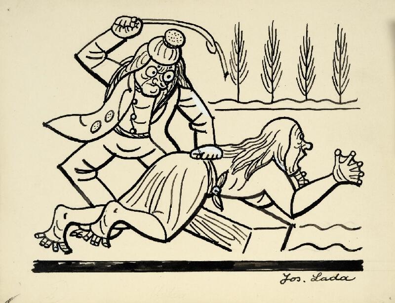 Josef Lada - Manželství vodníka