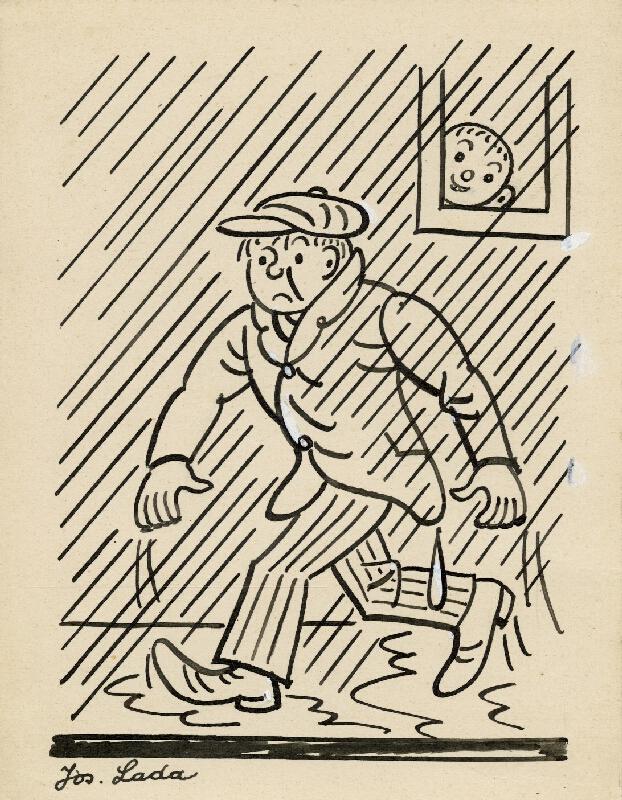 Josef Lada - Prší