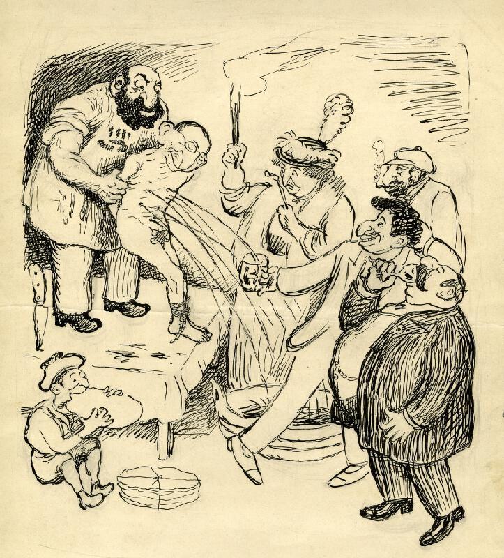 František Gellner - Satirická kresba