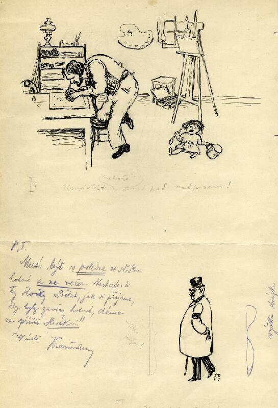 František Gellner - Satirické kresby