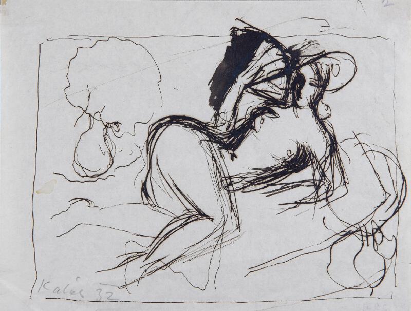 František Kaláb - Odpočívající ženský akt