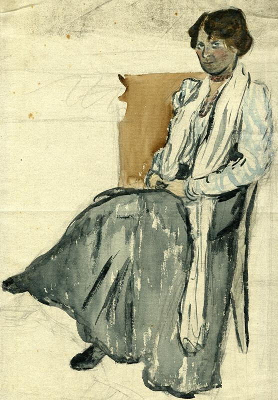 František Gellner - Žena v křesle