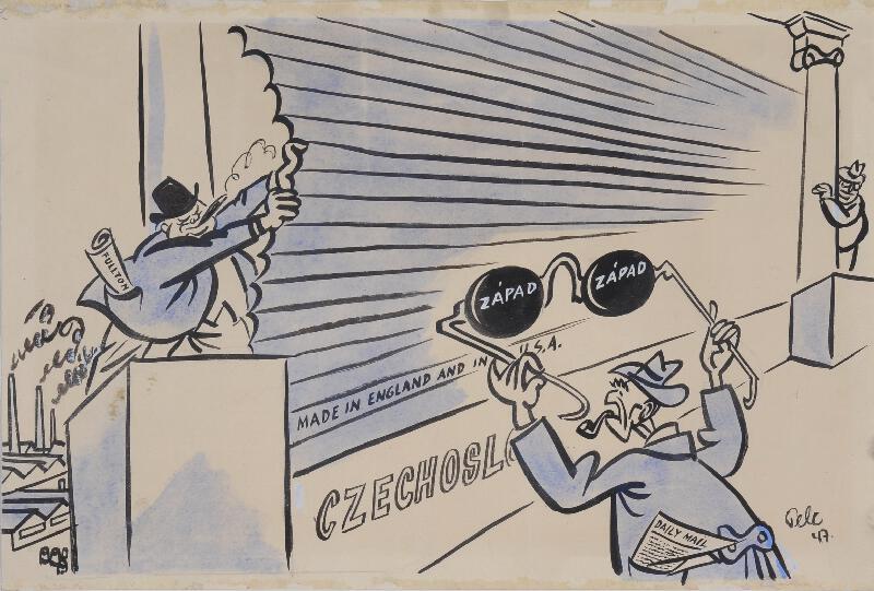 Antonín Pelc - Politická karikatura