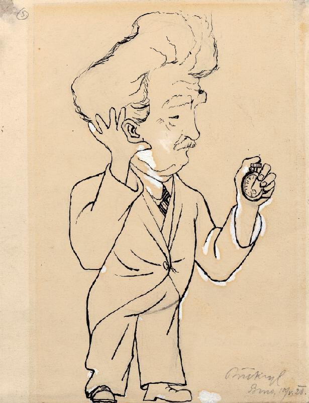 Richard Přikryl - Karikatura L. Janáčka