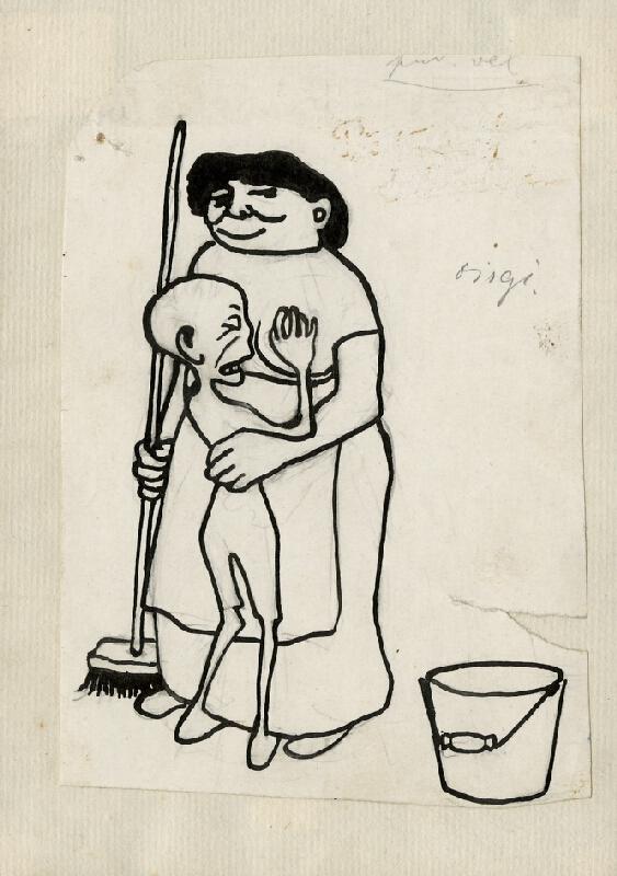 František Gellner - Žena s dítětem