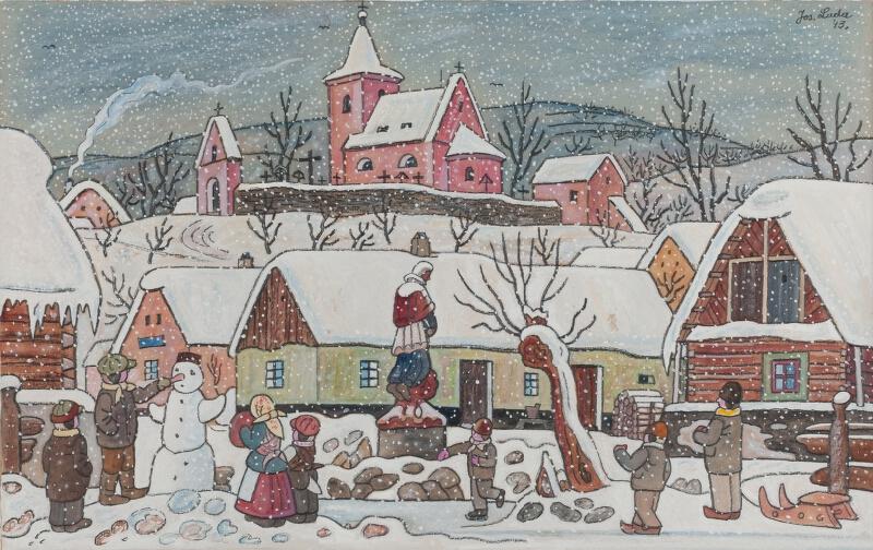 Josef Lada - Zimní náves