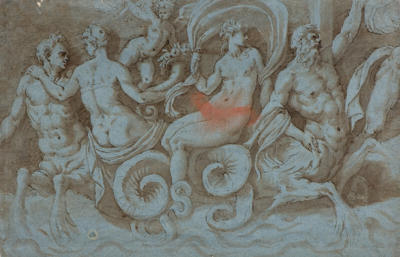 neznámý malíř - Tritoni a nymfy