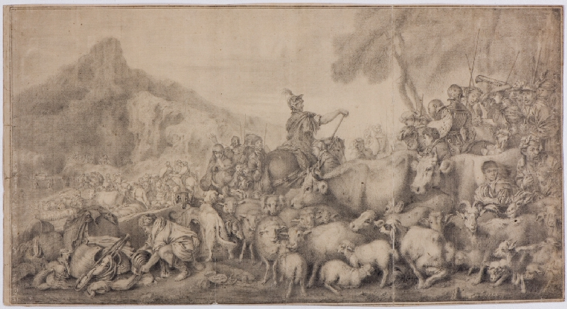 G. Benedetto Castiglione zv. il Grechetto - podle - Exodus