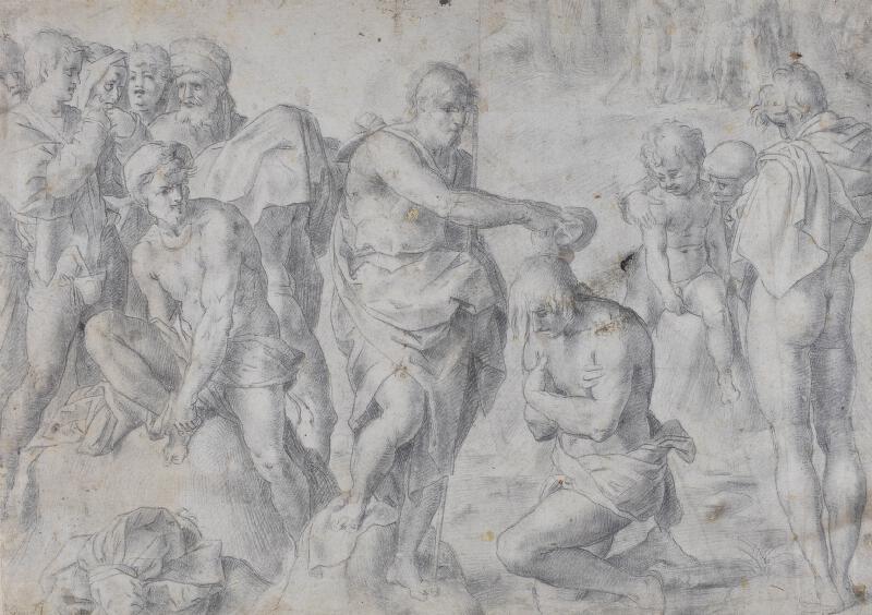 Andrea del Sarto - podle - Křest Krista