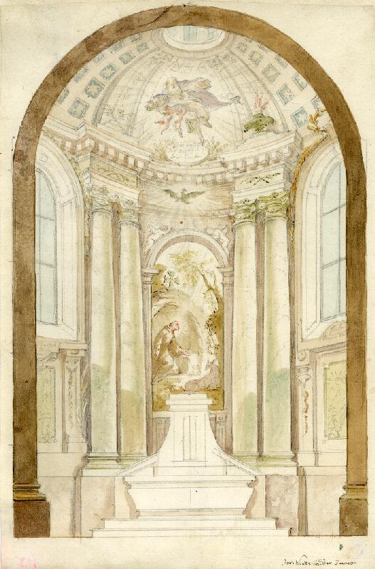 Josef Winterhalder II. (Winterhalter) - Návrh na oltář s obrazem sv. Jiljí