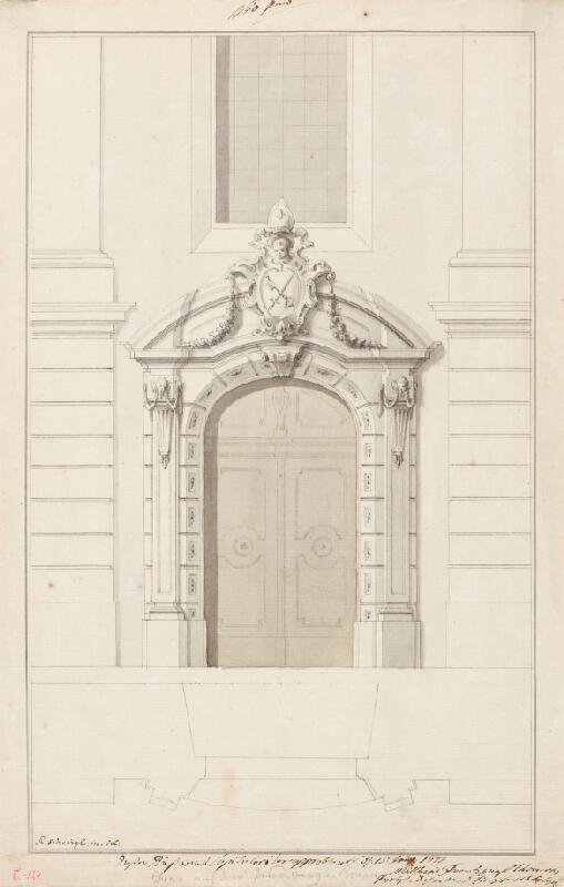 Ondřej (Andreas) Schweigl - Portál v kostele sv. Petra v Brně